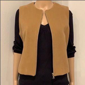 BANANA REPUBLIC Wool/Cashmere Tan  Zippered Vest M